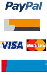 Zahlungsmethoden Paypal, Sofortüberweisung, Paysafecard, Kreditkarte